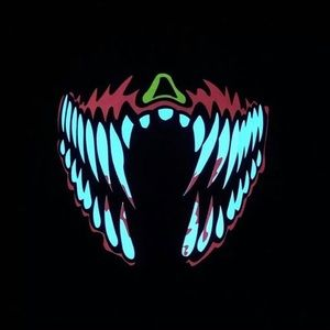 LED SOUND ACTIVATED VAMPIRE MASK